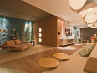 Moderne Wohnzimmer von Mariana Borges e Thaysa Godoy Modern
