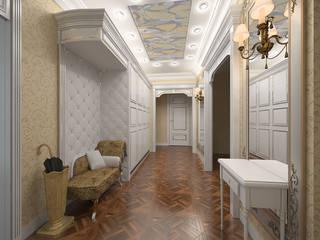 Прихожие Коридор, прихожая и лестница в классическом стиле от ООО ПрофЭксклюзив Студия дизайна интерьеров Классический
