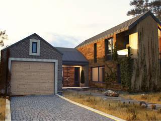 IK-architects Maisons minimalistes Briques Marron