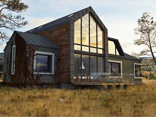 ЧАСТНЫЙ ДОМ DWELL HOUSE Дома в стиле минимализм от IK-architects Минимализм