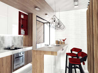 KEKS'S APARTMENT Кухня в стиле минимализм от IK-architects Минимализм