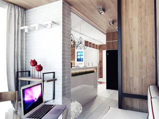 IK-architects Balcon, Veranda & Terrasse minimalistes