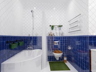 """Ванная комната в """"квартире холостяка"""" Ванная комната в эклектичном стиле от Настасья Евглевская Эклектичный"""