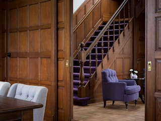 Villa Louise 經典風格的走廊,走廊和樓梯 根據 Foto Buro Brabant 古典風