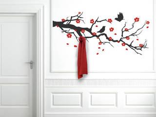 Wandtattoo Garderobe Kirschblütenzweig von Designscape Creative GmbH Ausgefallen