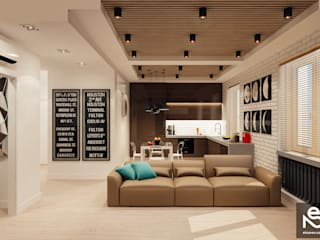Living room by Studio Eksarev & Nagornaya,