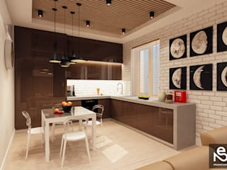 Kitchen by Studio Eksarev & Nagornaya, Eclectic