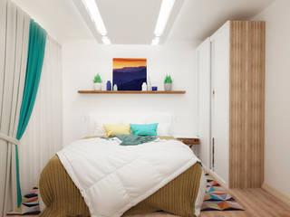 Спальня в квартире-студии для холостяка Спальня в стиле минимализм от Настасья Евглевская Минимализм