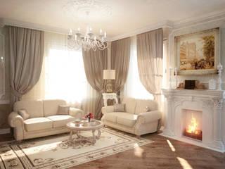 Таунхаус в классическом стиле Гостиная в классическом стиле от Настасья Евглевская Классический
