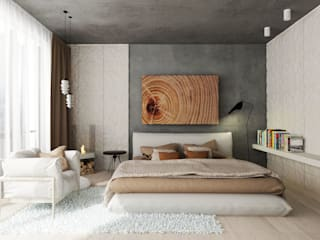 ARCHWOOD, дизайн-бюро Industrial style bedroom Grey