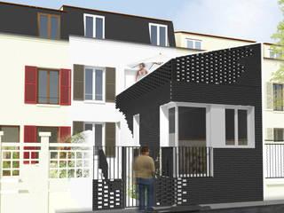 HAB-RÉNOVATION+EXTENSION MAISON INDIVIDUELLE Maisons modernes par Studioscop Moderne