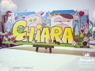 Le Forestele: quadri personalizzati per bambini di I Forestelli Mediterraneo