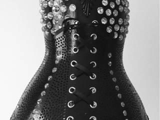 Kürbislampe  Korsett IIII mit Swarovski Kristallen:   von Atelier Pumpkin-Art