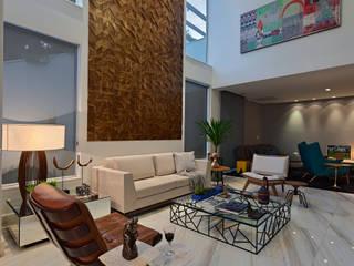Livings de estilo moderno por Lucas Lage Arquitetura