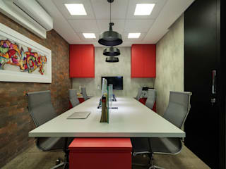 Industrial style study/office by Cactus Arquitetura e Urbanismo Industrial