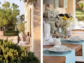 HOTEL CAL REIET – THE MAIN HOUSE Bloomint design بلكونة أو شرفة خشب متين Blue