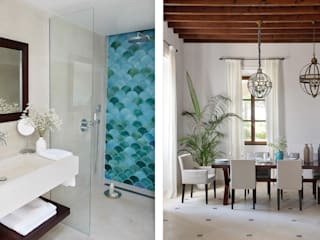 HOTEL CAL REIET – THE MAIN HOUSE Bloomint design Mediterranean style bathrooms Marble Turquoise