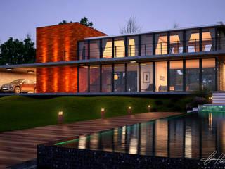 Country style house by Lucas Buarque de Holanda Arquiteto Country