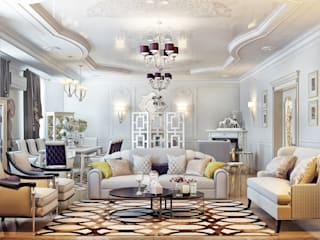 Sweet Home Design Modern living room White