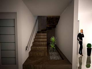 HHRG ARQUITECTOS Minimalist corridor, hallway & stairs
