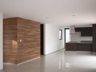 SALA, COMEDOR, COCINA: Comedores de estilo  por Región 4 Arquitectura