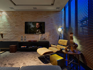 Salas multimedia de estilo moderno por Lucas Lage Arquitetura