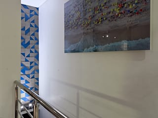 Pasillos y recibidores de estilo  por Lucas Lage Arquitetura