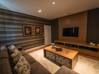 Media room by Juliana Stefanelli Arquitetura e Design,