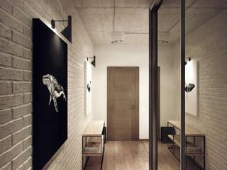 Pasillos, vestíbulos y escaleras de estilo industrial de Студия дизайна Марии Губиной Industrial