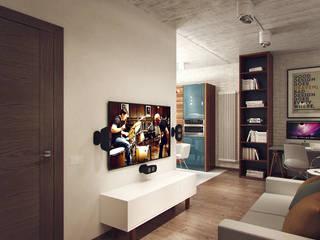 Salones de estilo industrial de Студия дизайна Марии Губиной Industrial