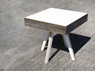 Beistelltisch B1 Zweitform WohnzimmerCouch- und Beistelltische Holzwerkstoff Metallic/Silber