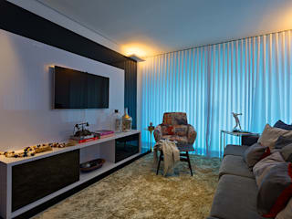 Salas de estilo moderno por Lucas Lage Arquitetura