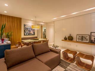Flávio Monteiro Arquitetos Associados: modern tarz Oturma Odası