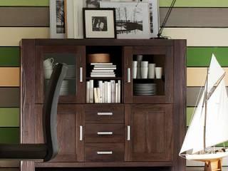 Braxton - Massivholzmöbel mit natürlichen Wuchsrissen AMD Möbel Handelsgesellschaft mbH & Co. KG EsszimmerBuffets und Sideboards Massivholz Braun