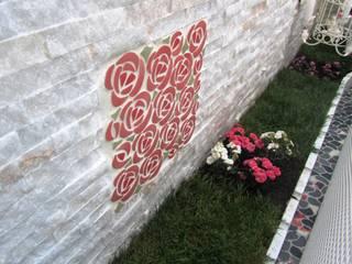 İnci Mozaik – Arnavutkoy'de Villa Terası: akdeniz tarzı tarz Bahçe
