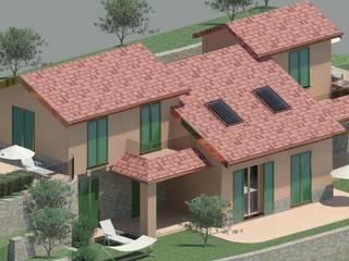 MONEGLIA (GE) - Villa monofamiliare di nuova costruzione in classe energetica A: Case in stile  di architetto RAFFAELLA PELOSO