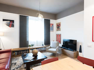 NEAR Architecture, San Paolo, Rome Paolo Fusco Photo Modern Living Room Grey
