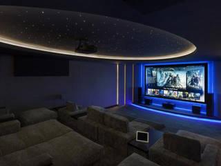 Marbella Villa Sala multimediale moderna di Principioattivo Architecture Group Srl Moderno