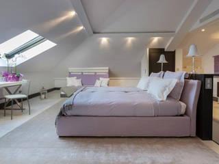 Marbella Villa Camera da letto moderna di Principioattivo Architecture Group Srl Moderno