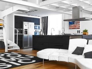 Bianco Antico. Restauro appartamento in centro storico. Soggiorno eclettico di Architetto Alboini Maria Gabriella Eclettico