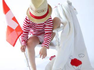 Babyschlafsäcke aus Swisswool und Bio-Baumwolle - Rote Luftballon 6-24 Monate:   von zizzz - öko schlaf