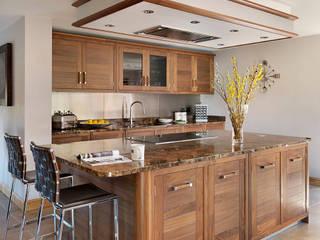 Grosvenor | Walnut And Marble Elegance Davonport Modern Kitchen Wood Brown