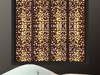 Perforated window shutters with integrated lighting and light panels: modern  by Mirror & Light Shutters, Modern