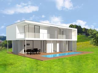 Typ: Stadthaus Flachdach 1:  Häuser von domino-haus