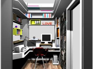 pequeno escritório para pesquisadora:   por Margareth Salles