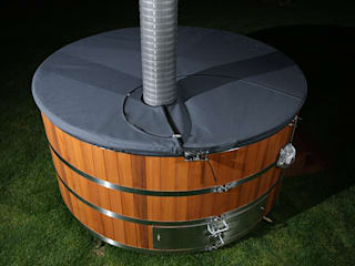 Stainless steel hot tub Cedar Hot Tubs UK Spa de estilo rústico