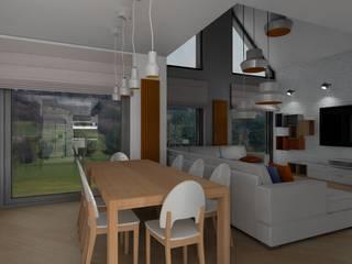 dom na wzgórzu od Plan Design Katarzyna Szczucka Projektowanie Wnętrz