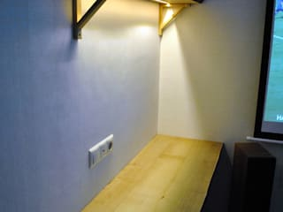 Стол и полка с LED подсветкой:  в . Автор – Werk Haus SPB
