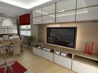 Przytulne mieszkanie od Plan Design Katarzyna Szczucka Projektowanie Wnętrz