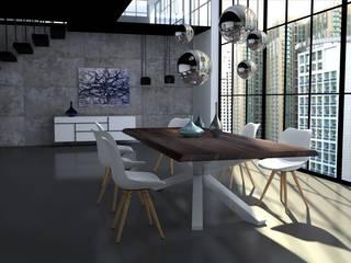 Pomysł na jadalnię w lofcie od Le Pukka Concept Store Minimalistyczny